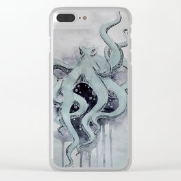 Octopus power Clear iPhone Case