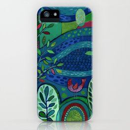 Bird by the Pond iPhone Case