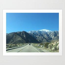Mountain Snow in Palm Springs California Art Print