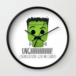 Frankenstein Wants Candy Wall Clock