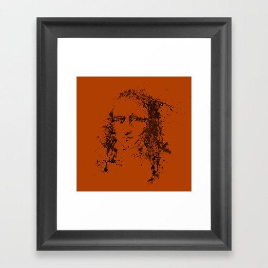 Modern Lisa (orange) Framed Art Print