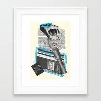 radio Framed Art Prints featuring Radio by collageriittard