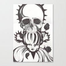 El mordisco de la calavera Canvas Print