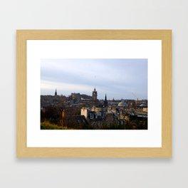 City View of Edinburgh Castle Framed Art Print