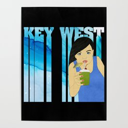 Drink Up in Key West Poster