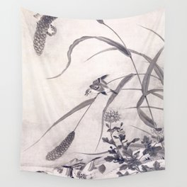 Millet and Sparrows Wall Tapestry