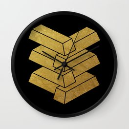illusory (Black) Wall Clock