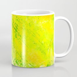 Wind Fans - Multi Greens Digital Abstract Texture Coffee Mug