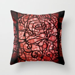 Scarred Rose Throw Pillow