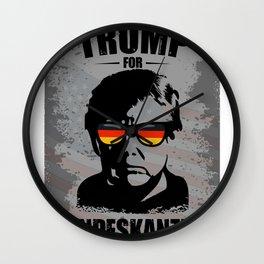 Trump for Federal Chancellor Lustig Politics Wall Clock