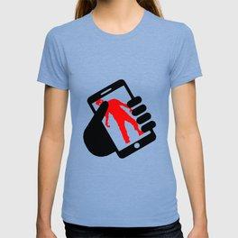 smartphone zombie logo T-shirt