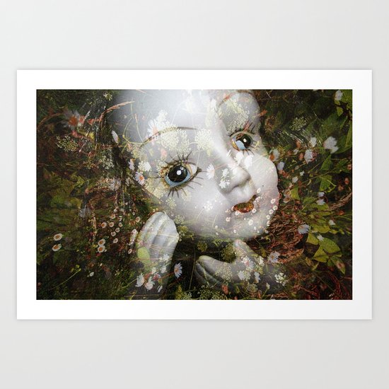 Porcelain Flora Art Print