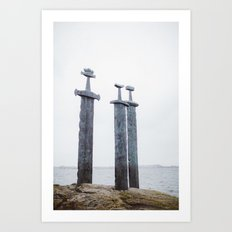 Swords in Rocks, Stavanger Norway/ Sverd i fjell Art Print