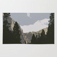 yosemite Area & Throw Rugs featuring Yosemite by Amanda Bates