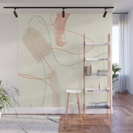 dance lines mid century modern brush strokes Wall Mural