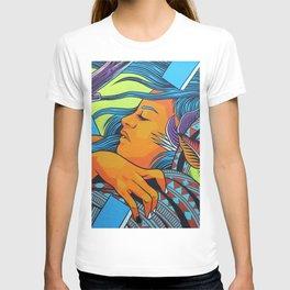 Urban Street Art: Vibrant Sleeper Mural T-shirt