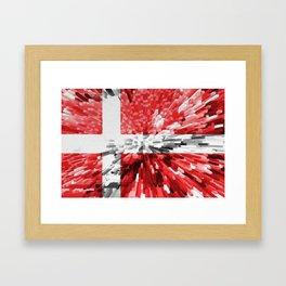 Extruded Flag of Denmark Framed Art Print