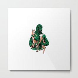 Fawns Meet Kaiju Metal Print