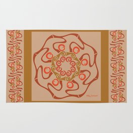 Hope Mandala with Border - Brown Tan Rug