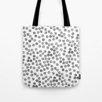 polka dots Tote Bags featuring Polka Dots by Take F1ve