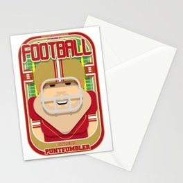 American Football Red and Gold - Enzone Puntfumbler - Josh version Stationery Cards