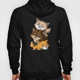 Fox Pile - Cute Kawaii Foxes Magical Animals Gift Hoody