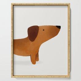 Watercolor Dachshund Weiner Dog Serving Tray