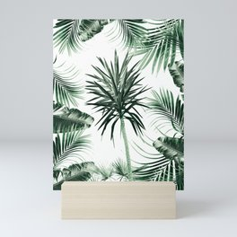 Tropical Summer Vibes Leaves Mix #2 #tropical #decor #art #society6 Mini Art Print