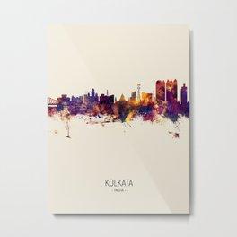 Kolkata (Calcutta) India Skyline Metal Print