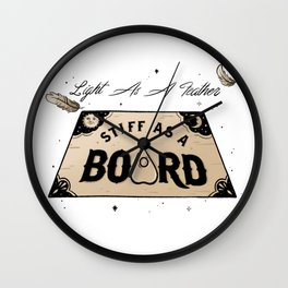 Light As A Feather Stiff As A Board | The Craft Wall Clock