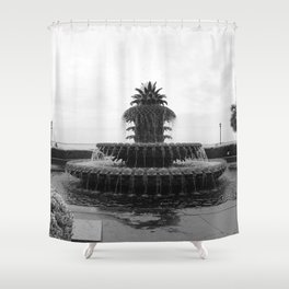 Pineapple Fountain Charleston River Park Shower Curtain