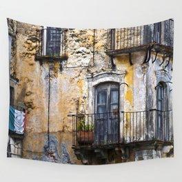 Urban Sicilian Facade Wall Tapestry