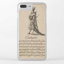 Game of Geography - Tartary, Central Asia (Stefano della Bella, 1644) Clear iPhone Case