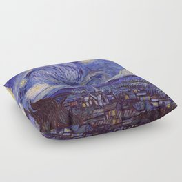 Vincent Van Gogh Starry Night Floor Pillow