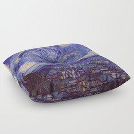 Vincent Van Gogh Starry Night Floor Pillow