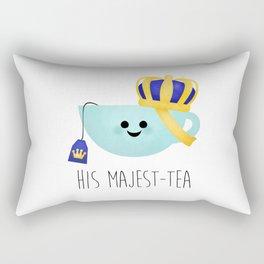 His Majest-tea Rectangular Pillow