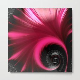 Vibrant Pink Fan Metal Print