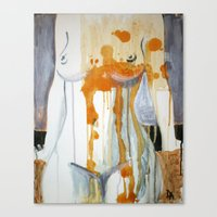 in the flesh Canvas Prints featuring flesh by feasavana
