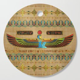 Egyptian Goddess Isis Ornament on papyrus Cutting Board