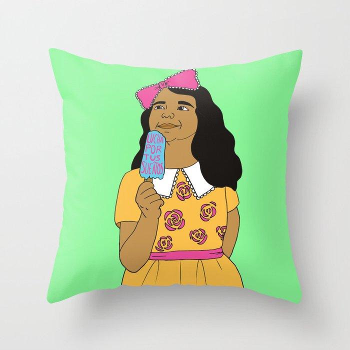 Lucha Por Tus Sueños Throw Pillow
