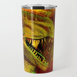 prehistoric extiction   (This Artwork is a collaboration with the talented artist Agostino Lo coco) Travel Mug