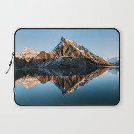 Calm Mountain Lake at Sunset - Landscape Photography Laptop Sleeve