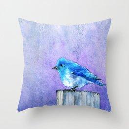 Bluebird Bliss Throw Pillow