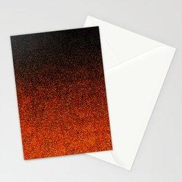 Orange & Black Glitter Gradient Stationery Cards