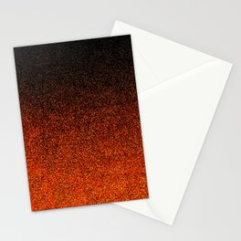 Orange & Black Glitter Gradient Stationery Cards