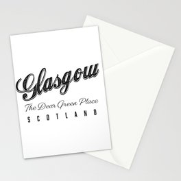 """Glasgow """"The Dear Green Place"""" Scotland Stationery Cards"""