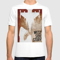 west side story MEDIUM White Mens Fitted Tee