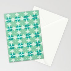 Pattern: Blue Strawberries Stationery Cards