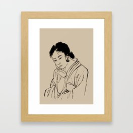 Lady Elegance Framed Art Print