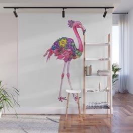 Fancy Felicity Flamingo Wall Mural